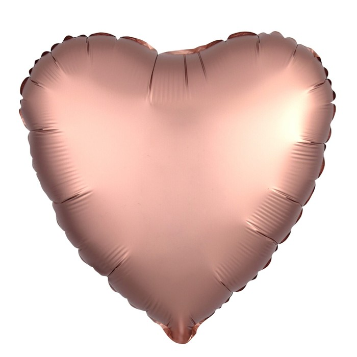 """Шар фольгированный 19"""", сердце, цвет розовое золото, мистик"""