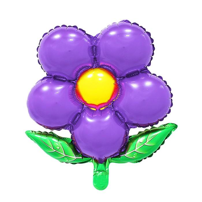 """Шар фольгированный 20"""" """"Цветок"""" с клапаном, цвет фиолетовый"""