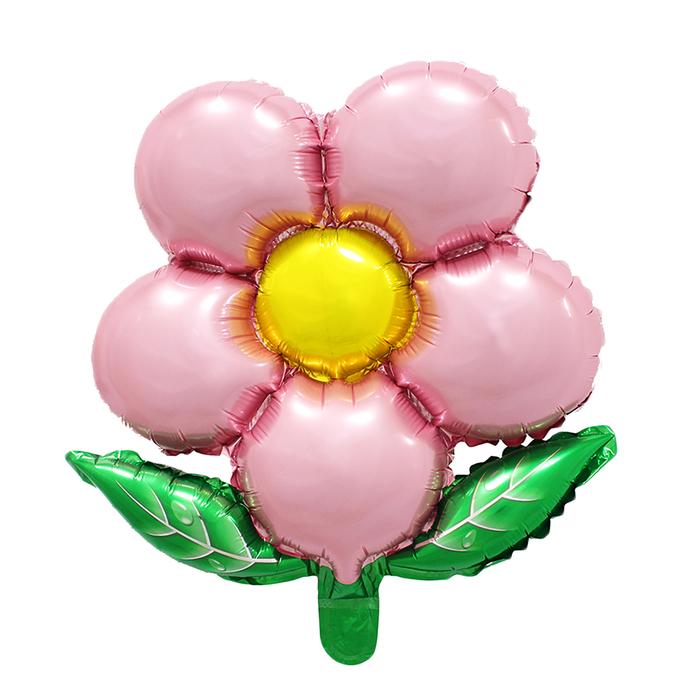 """Шар фольгированный 20"""" """"Цветок"""" с клапаном, цвет розовый"""