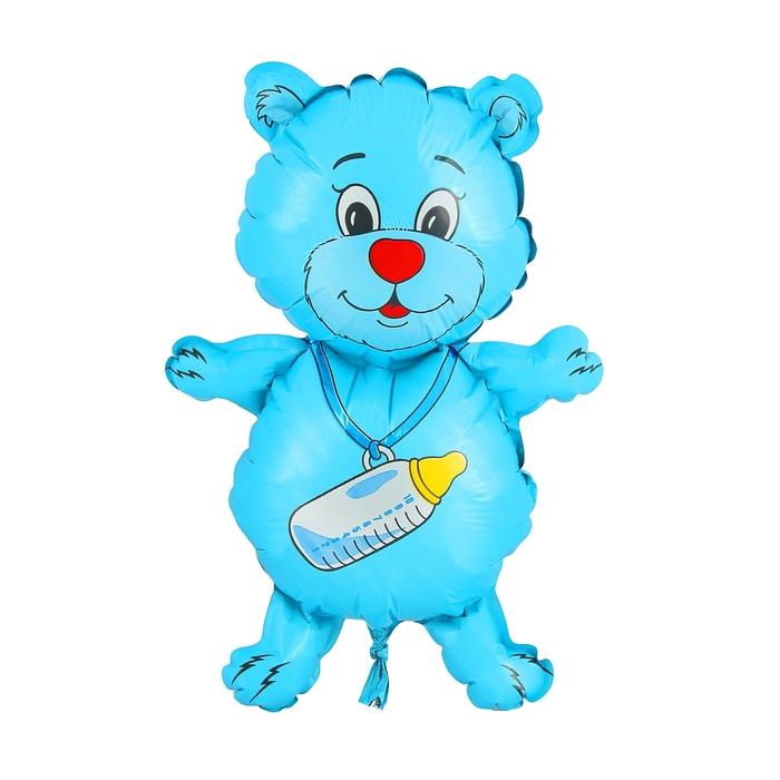 """Шар фольгированный 12"""" """"Медвежонок-мальчик"""" для палочки"""