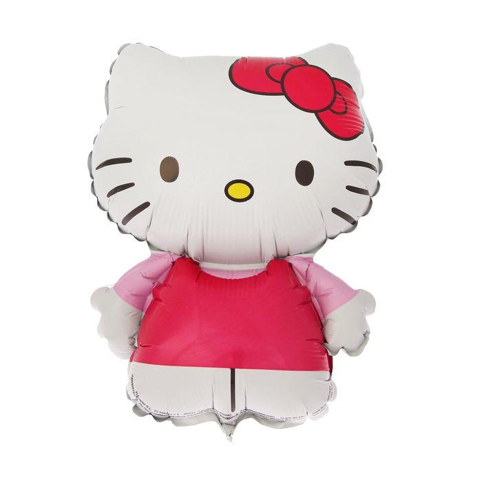 """Шар фольгированный 14"""" Hello Kitty для палочки"""