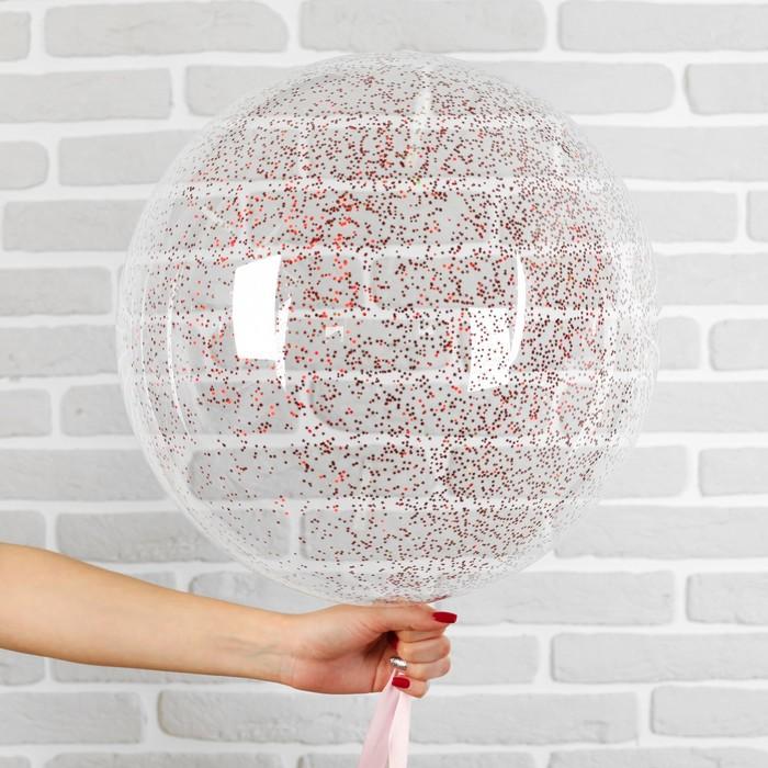 """Шар полимерный 20"""" """"Сфера"""", маленькие звезды, цвет красный, 1 шт"""
