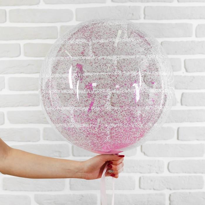 """Букет из шаров """"День рождения"""", полимер, фольга, набор 5 шт., цвет розовый"""