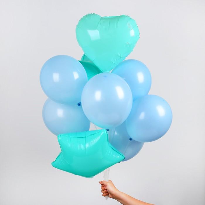 """Букет из шаров """"Макарун"""", набор из 10 шт, цвет голубой"""