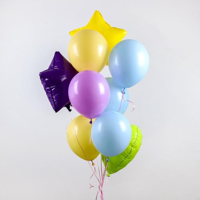 """Букет из шаров """"Макарун яркий"""", набор из 10 шт, цвет МИКС"""