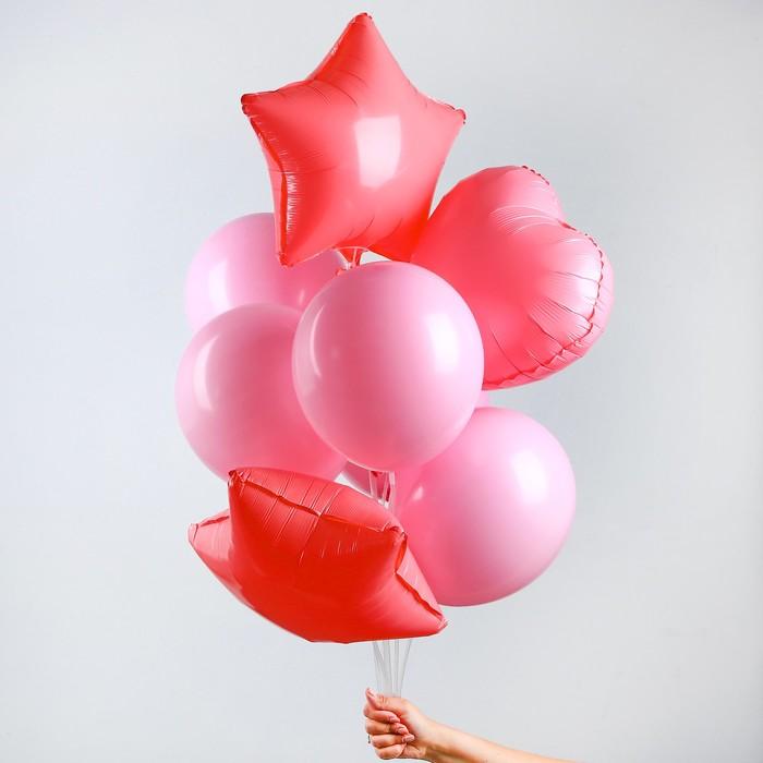 """Букет из шаров """"Макарун"""", набор из 10 шт, цвет розовый"""