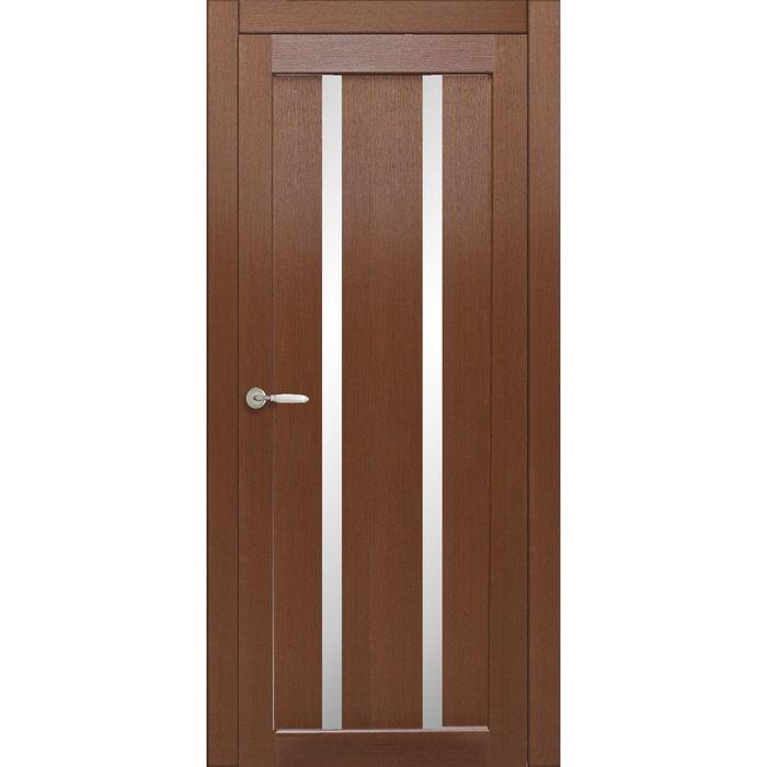 Дверное полотно остекленное Сицилия Каштан 2000х800