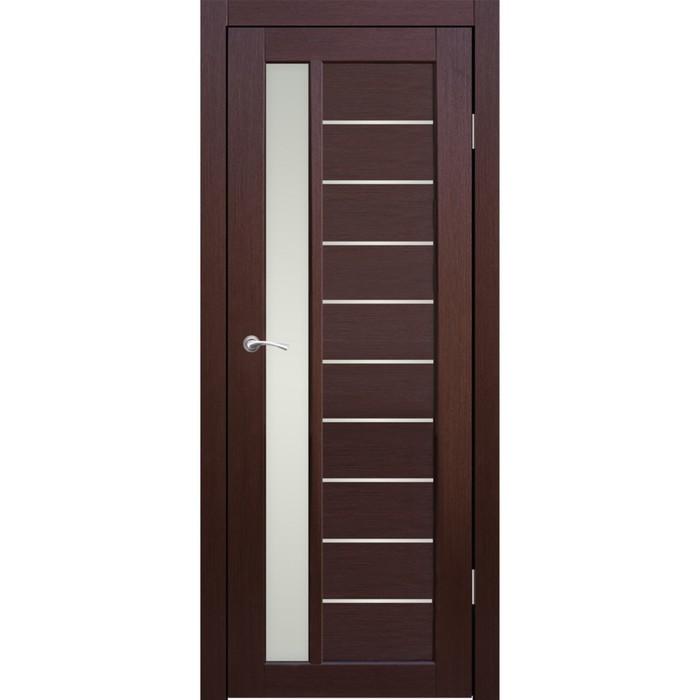 Дверное полотно остекленное Корсика Каштан 2000х800