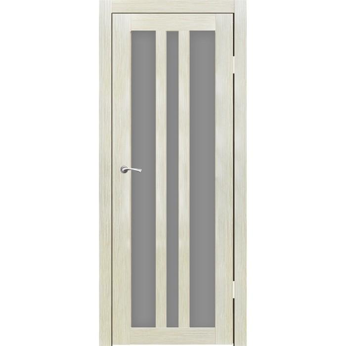 """Дверное полотно """"Монреаль 3"""" Капучино, серый сатин 2000x800"""
