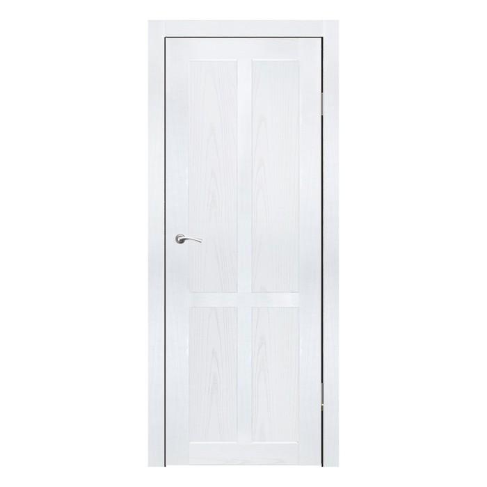 Дверное полотно Рона Ясень белый 2000х900