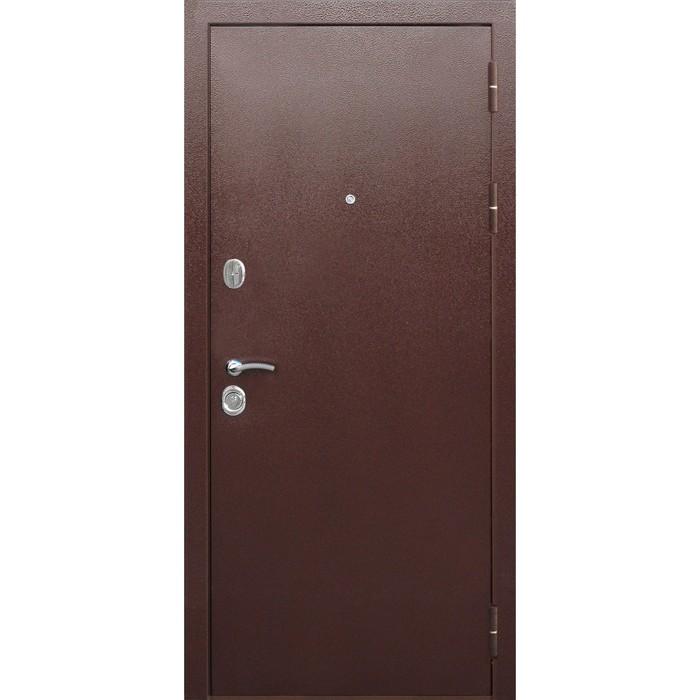 Дверь входная 10 см Толстяк Медный антик Белый ясень 2050х960 (левая)