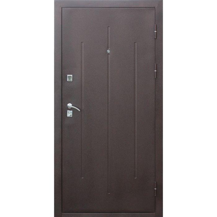 Дверь входная Стройгост 7-2 Итальянский орех 2050х860 (левая)