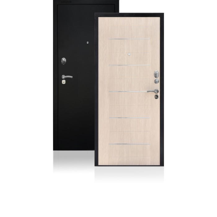 Сейф-дверь ARGUS «ДА-1», 870 × 2050 мм, правая, цвет капучино муар