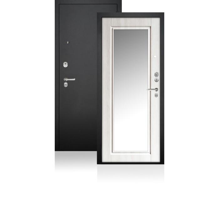 Сейф-дверь ARGUS «ДА-62», 870 × 2050 мм, правая, цвет крем филадельфия, зеркало