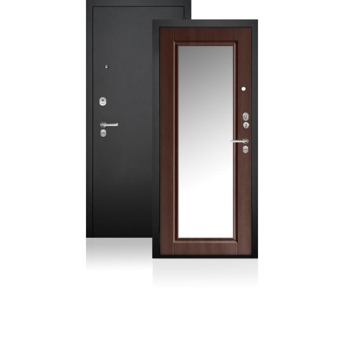 Сейф-дверь ARGUS «ДА-62», 970 × 2050 мм, левая, цвет шоколад филадельфия, зеркало