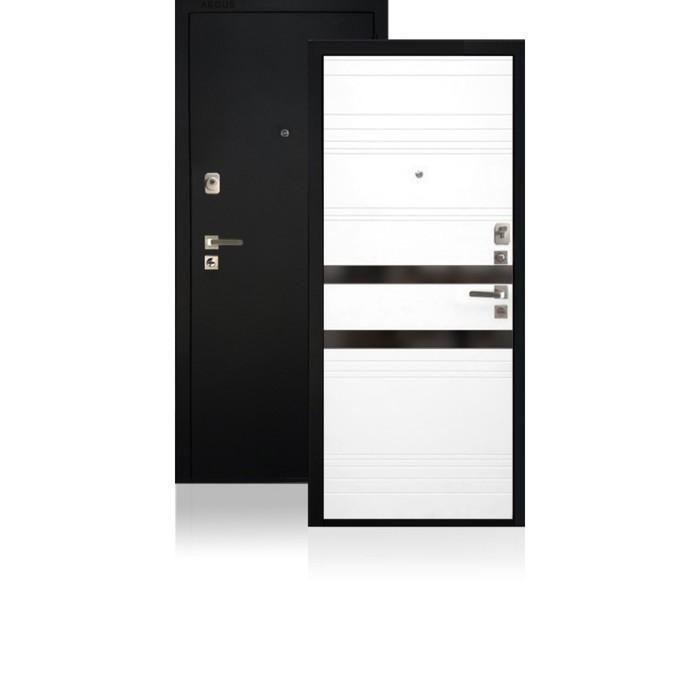 Сейф-дверь ARGUS «ДА-92 NEW Кензо», 870 × 2050 мм, левая, чёрное стекло «Кензо»