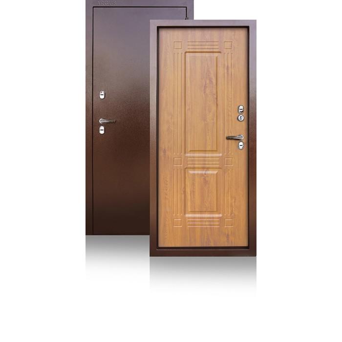 Сейф-дверь ARGUS «Тепло-1», 870 × 2050 мм, правая, цвет дуб янтарный