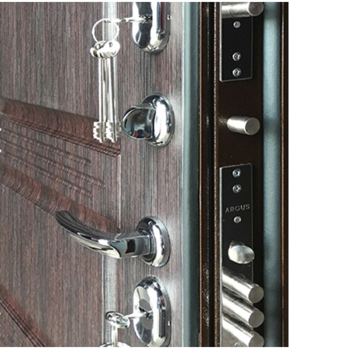 Сейф-дверь ARGUS «Тепло-5», 970 × 2050 мм, правая, цвет венге
