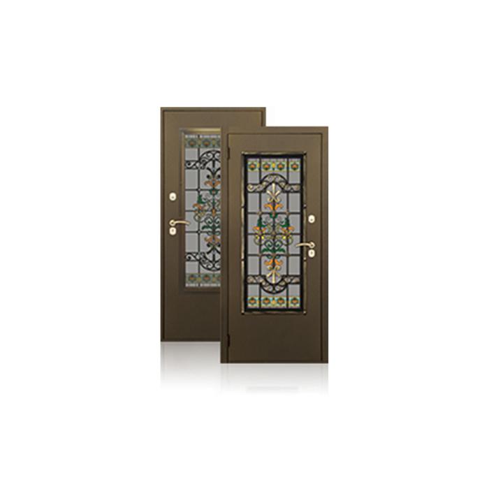 Сейф-дверь ARGUS «Комплимент», 870 × 2050 мм, правая, цвет антик золото