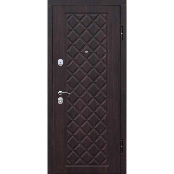 Дверь входная Kamelot Винорит Вишня темная 2050х960 (левая)