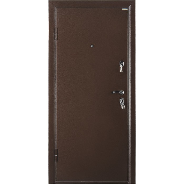 Дверь входная ПРАКТИК металл/металл, антик медь 2066х980 (правая)