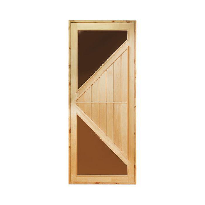 """Дверь для бани и сауны """"Углы"""", 190х80"""