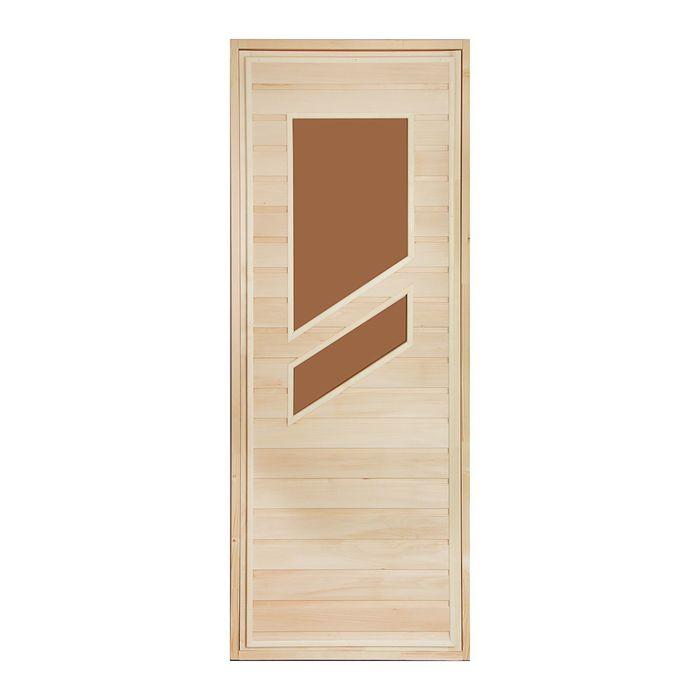 """Дверь для бани и сауны """"Стекло"""", 180х80см"""
