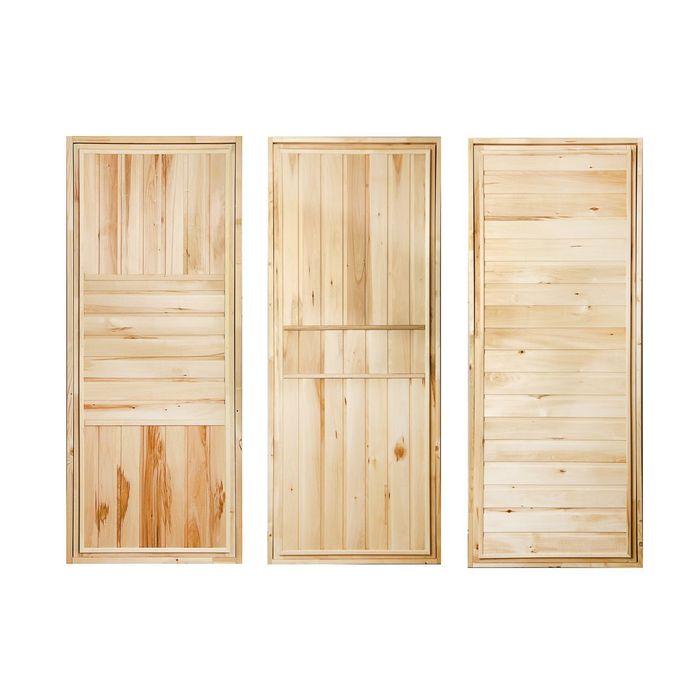 """Дверь для бани """"ЭКОНОМ"""", горизонталь, 170х80см, усиленная ПРОМО"""