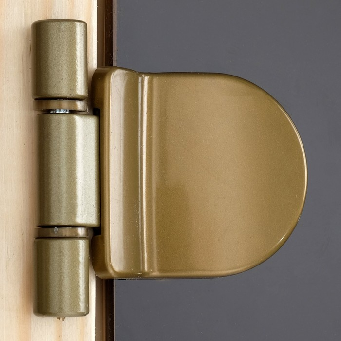 Дверь для бани и сауны 190×70 см, бронза, круглая ручка