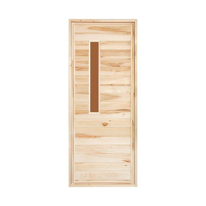 """Дверь для бани и сауны """"Банная"""" , 180х80см"""