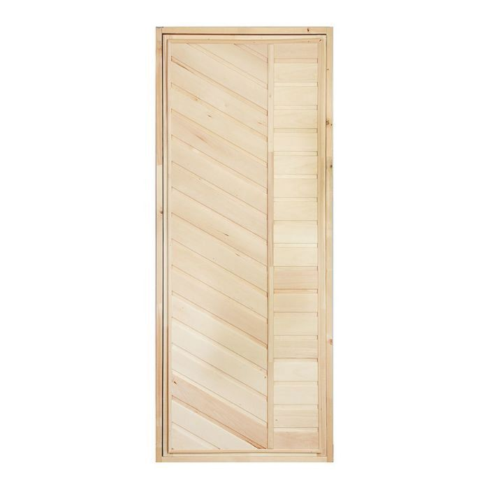 """Дверь для бани """"Диагональ"""", 170х80см"""