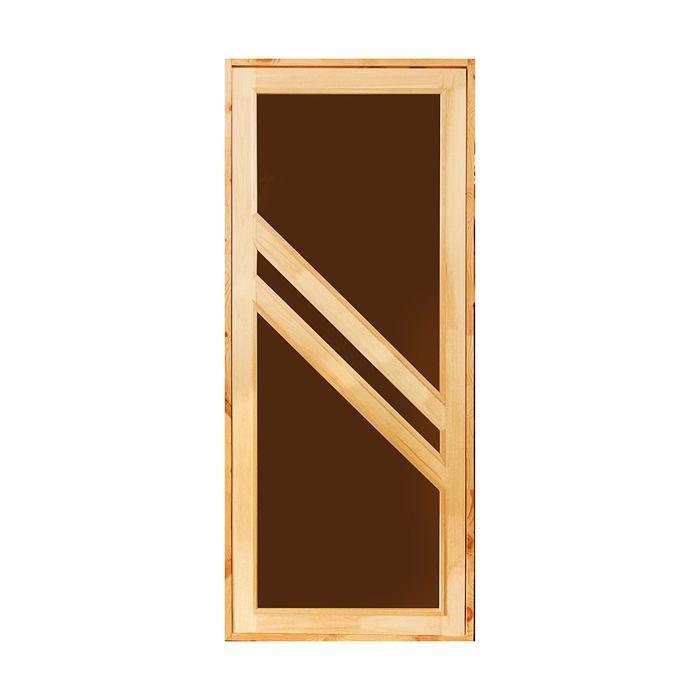 """Дверь для бани и сауны """"Диагональ"""", 190х70см"""