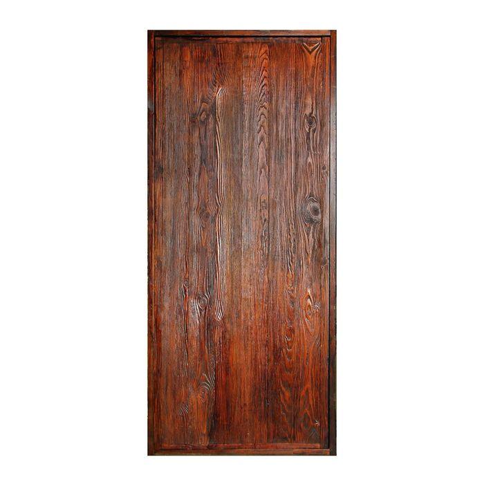 Дверь глухая, СОСНА,брашированная, морёная, лакированная, 180×70см