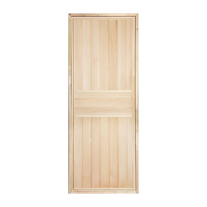 """Дверь для бани """"Вертикаль"""", 200х80см"""