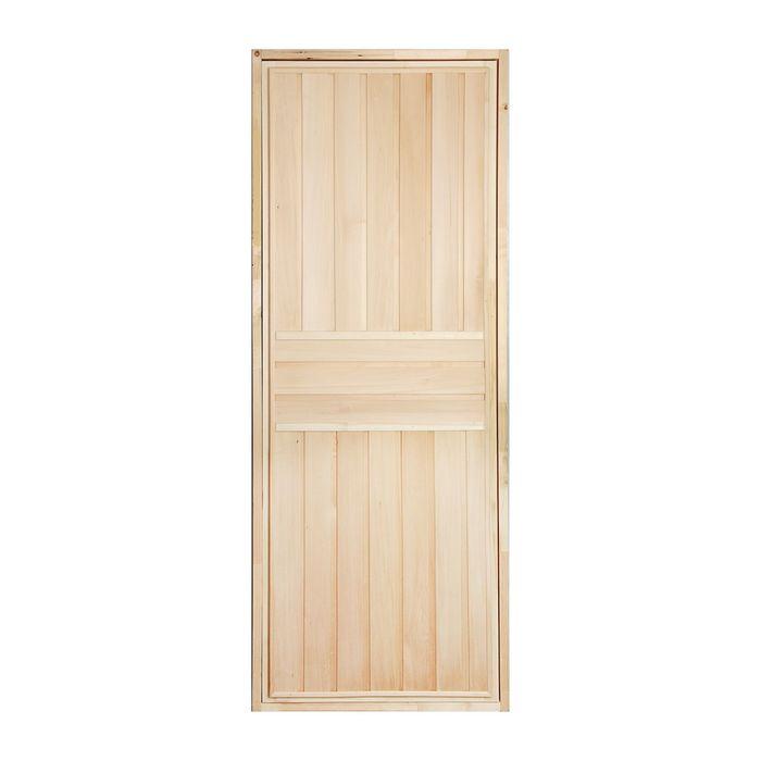 """Дверь для бани """"ЭКСТРА"""", вертикаль, 190х70см"""