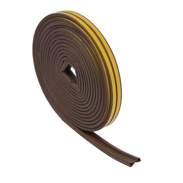 Уплотнитель резиновый TUNDRA krep, профиль Р, размер 5.5 х 9 мм, коричневый, в упаковке 10 м