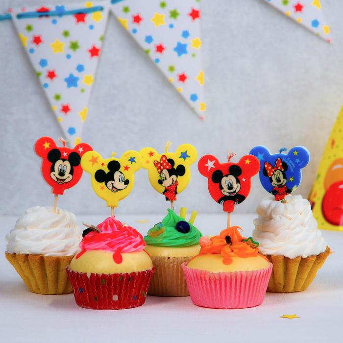 Свеча в торт набор, Микки Маус и его друзья