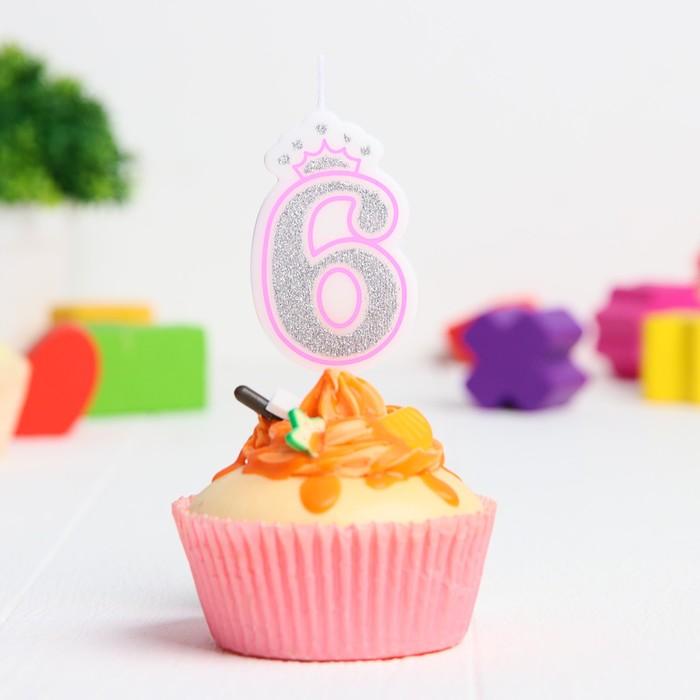 Свеча в торт цифра Дисней 6, Холодное сердце