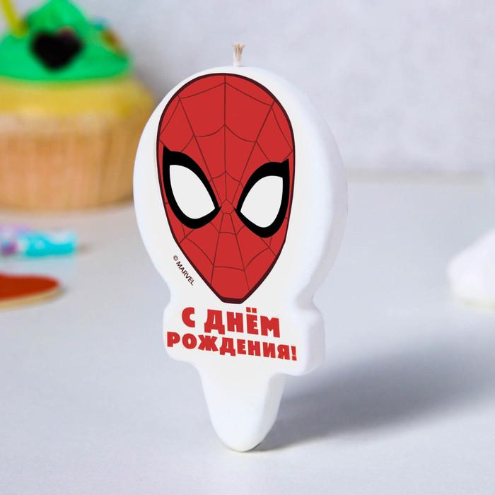 """Свеча в торт """"С Днем Рождения!"""", Человек-паук"""