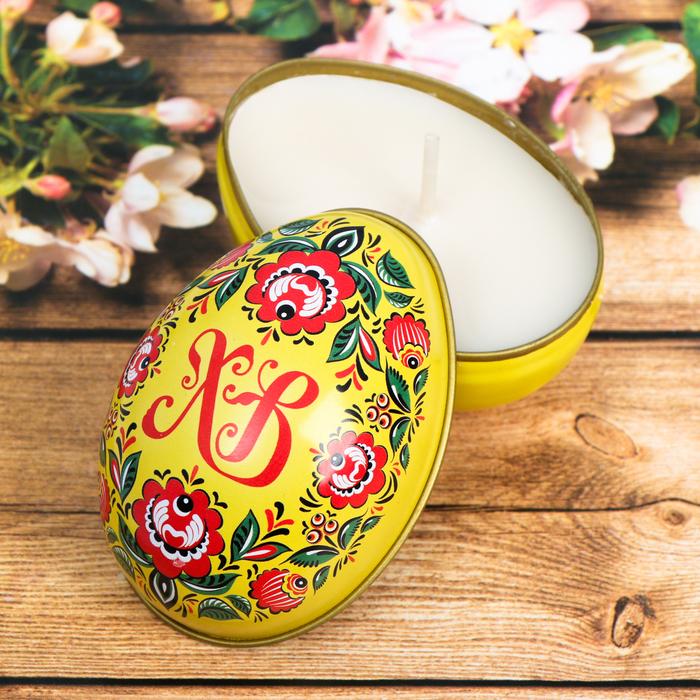 Пасхальная свеча в баночке «Цветы»