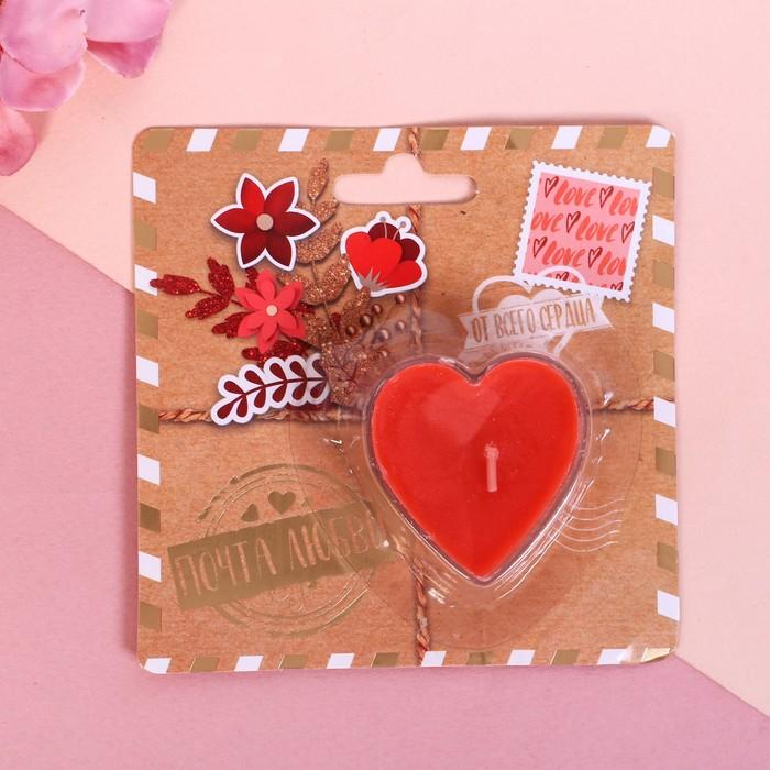Свеча на открытке «Почта любви»