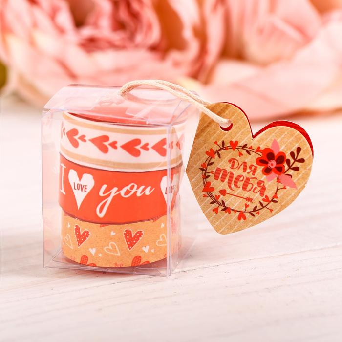 Набор чайных арома-свечей I love you, 3 шт
