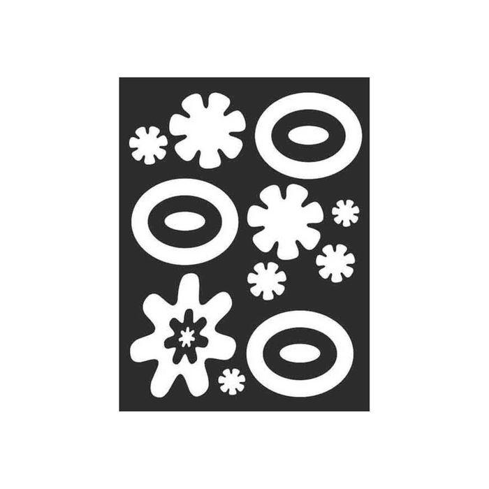 Набор наклеек Кляксы светоотр.плоттер (150х200) цвет серебро (упак 1шт) SKYWAY