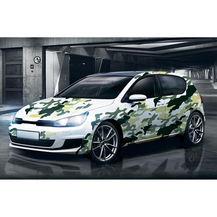 "Набор наклеек на кузов автомобиля ""Зеленая текстура"", 4 шт"
