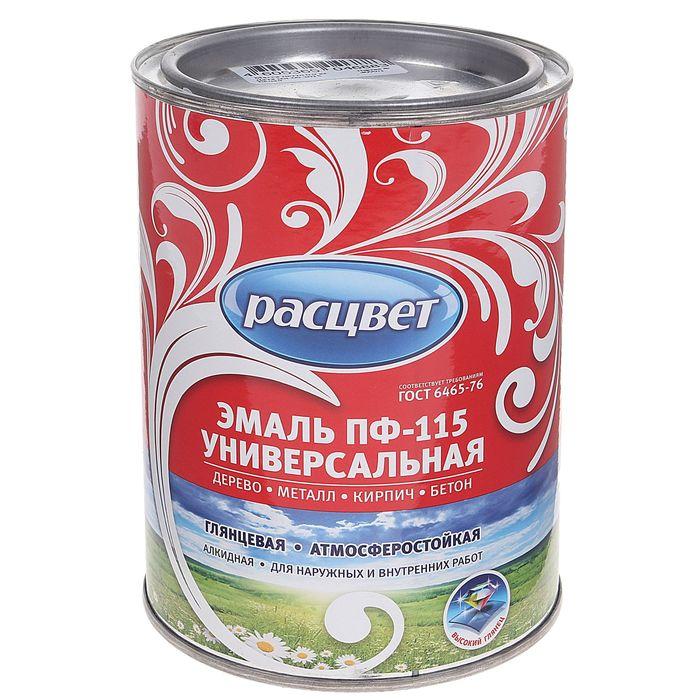 Эмаль Расцвет ПФ-115 белая глянц. 0,9 кг