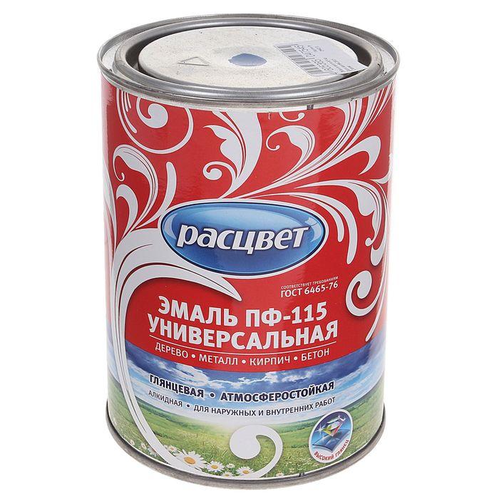 Эмаль Расцвет ПФ-115 синяя 0,9 кг