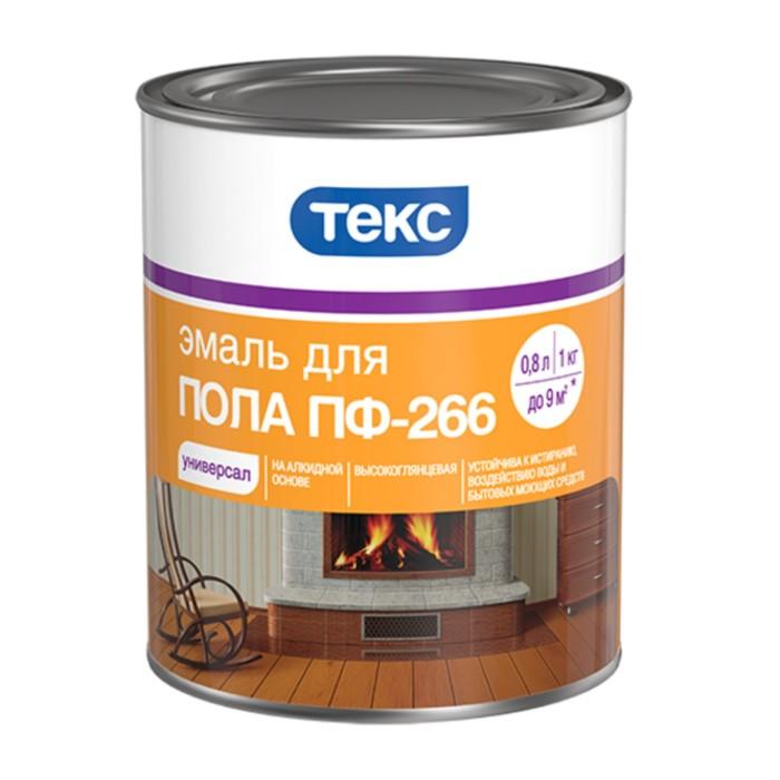 Эмаль ПФ-266 УНИВЕРСАЛ желто-коричневая гл 1кг ТЕКС
