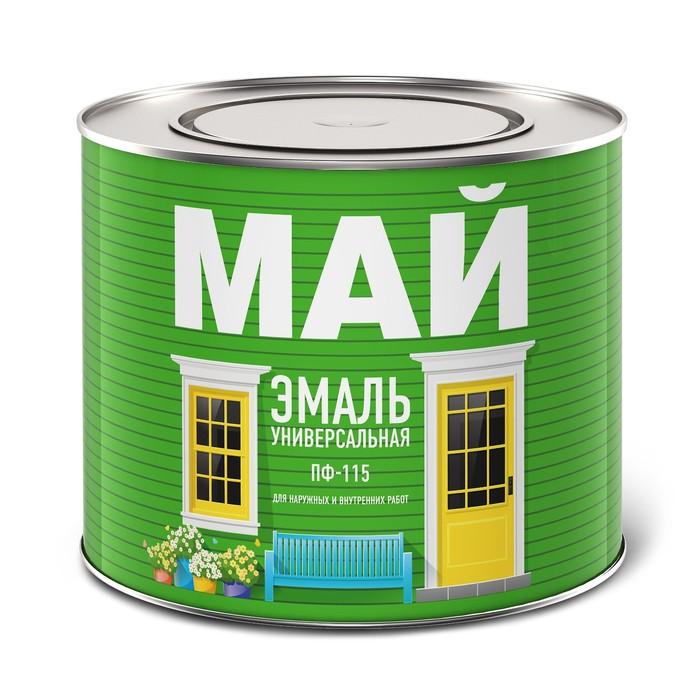 Эмаль МАЙ ПФ-115 серая, банка 1,9 кг