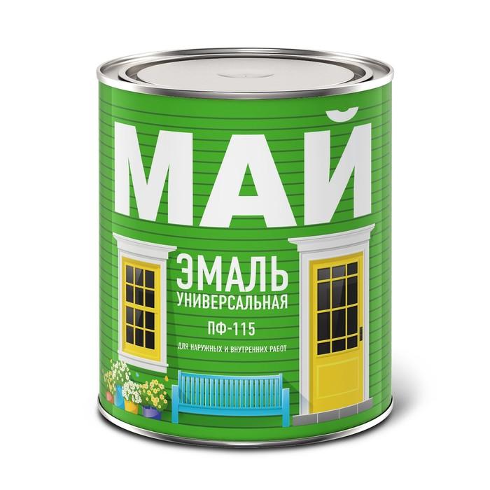 Эмаль МАЙ ПФ-115 черная, банка 0,8 кг
