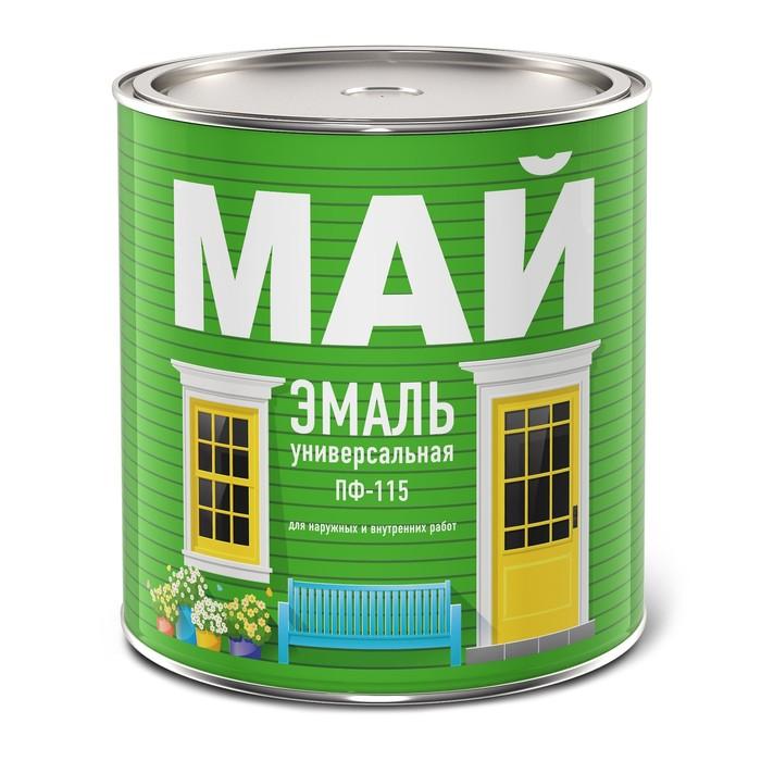 Эмаль МАЙ ПФ-115 белая, банка 2,6 кг